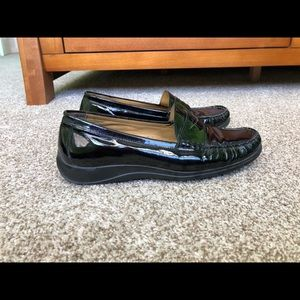 2/40 Cole Haan Black Nike Air Patent Loafers 8.5